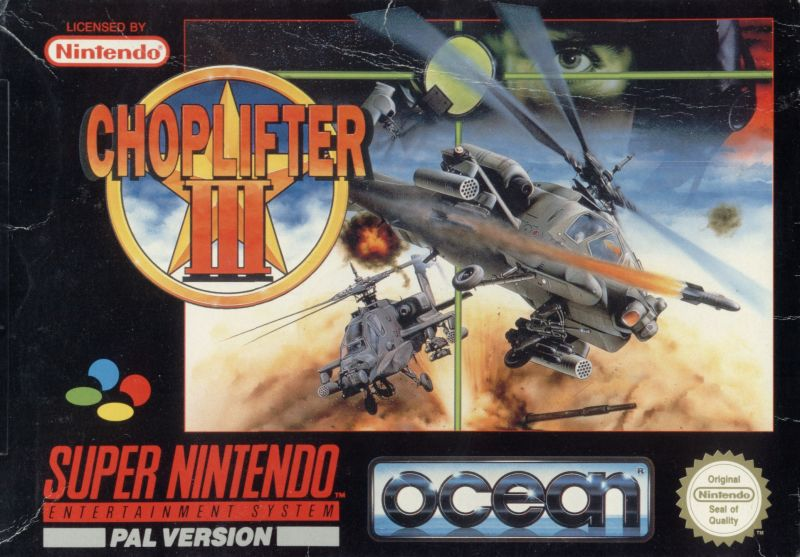 Choplifter III: Rescue Survive SNES Front Cover