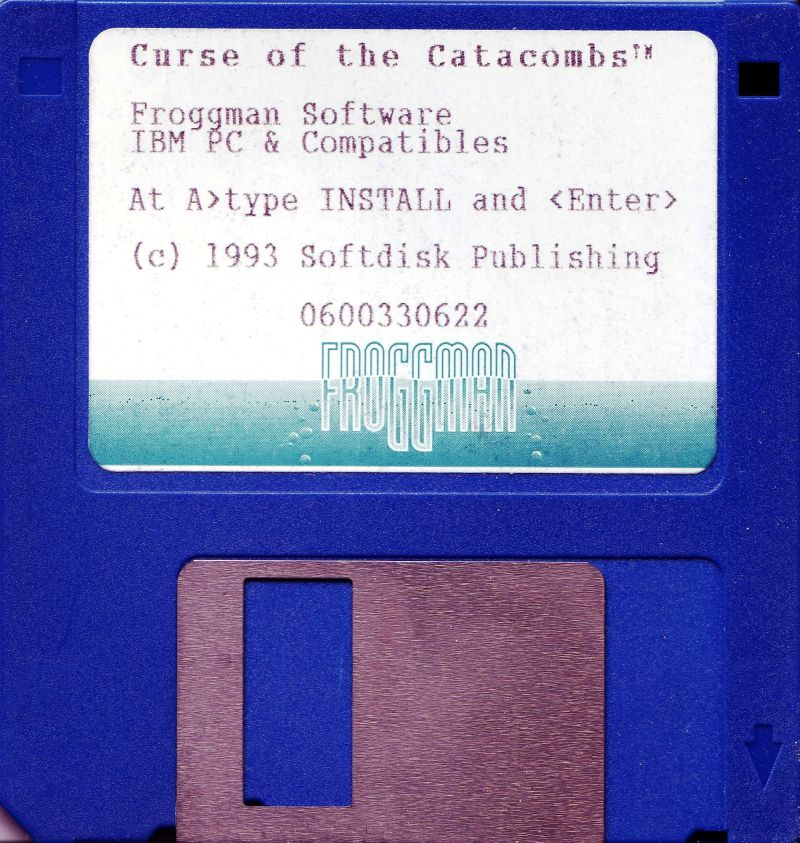 "Curse of the Catacombs DOS Media 3.5"" Disk"