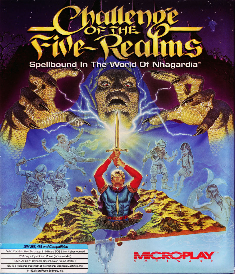 Challenge of the Five Realms DOS Front Cover