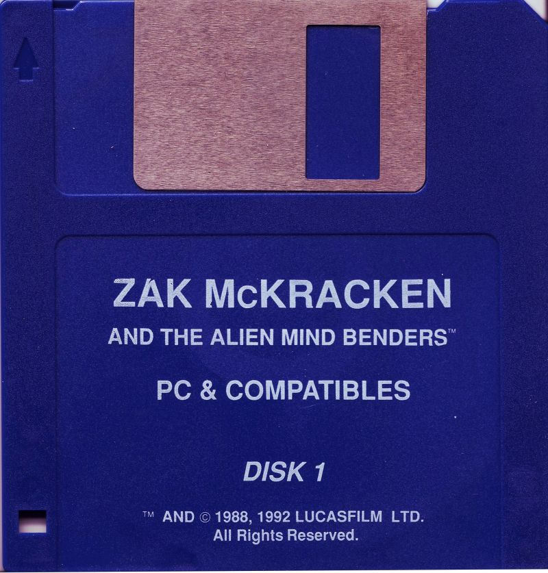 Zak McKracken and the Alien Mindbenders DOS Media Disk 1/2