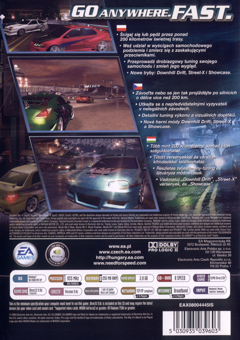 Need For Speed Underground 2 2004 Box Cover Art Mobygames