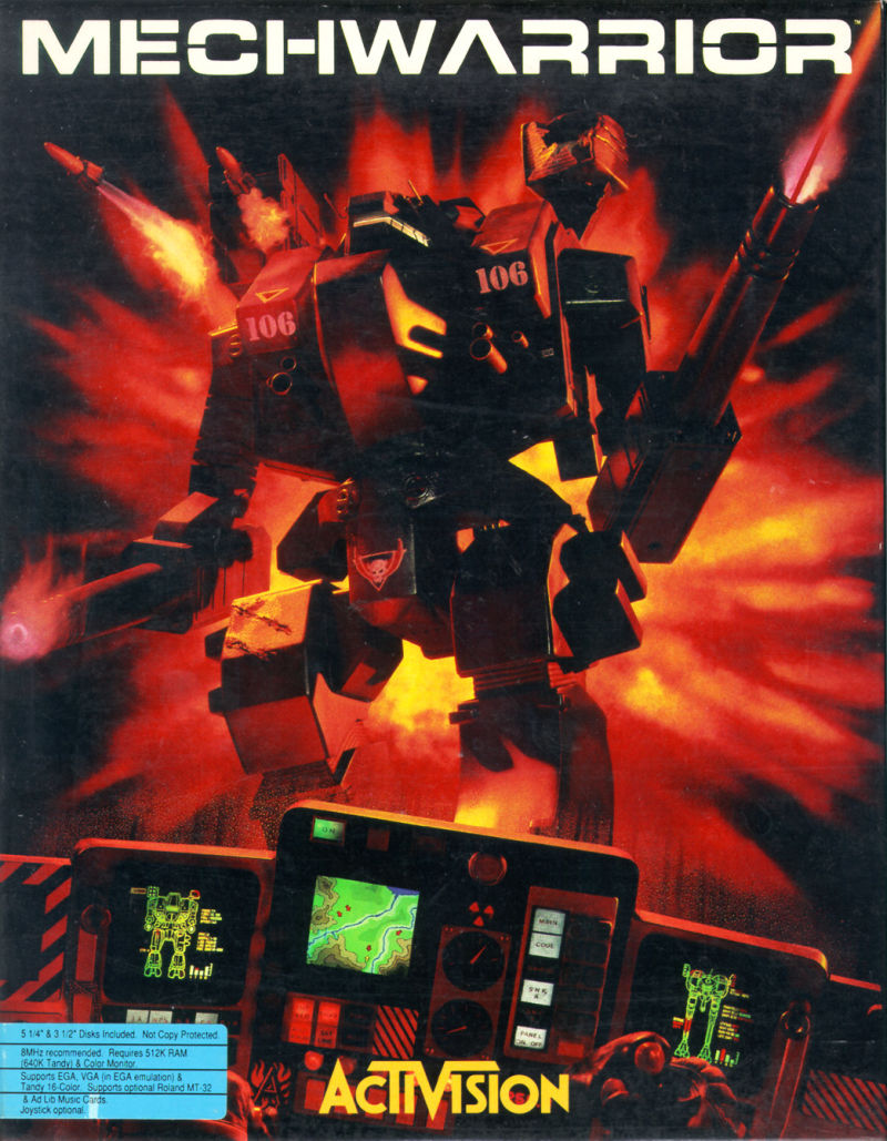 MechWarrior DOS Front Cover