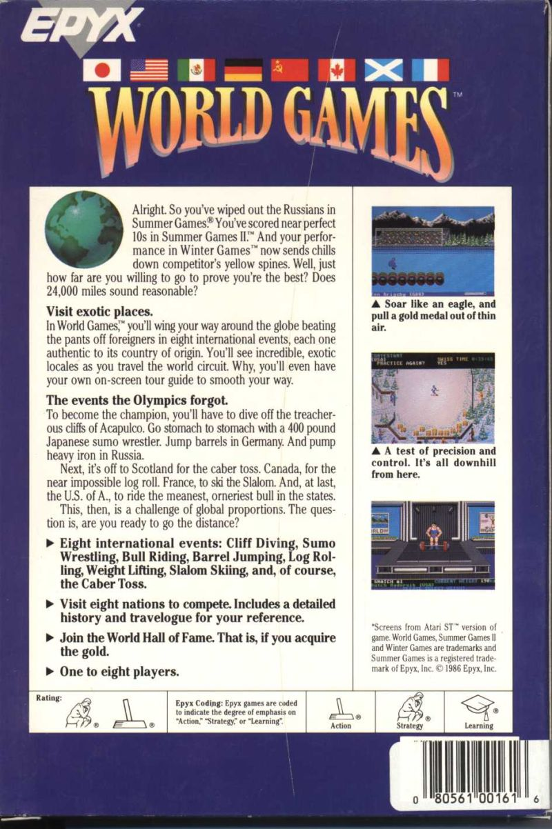 World Games PC Booter Back Cover