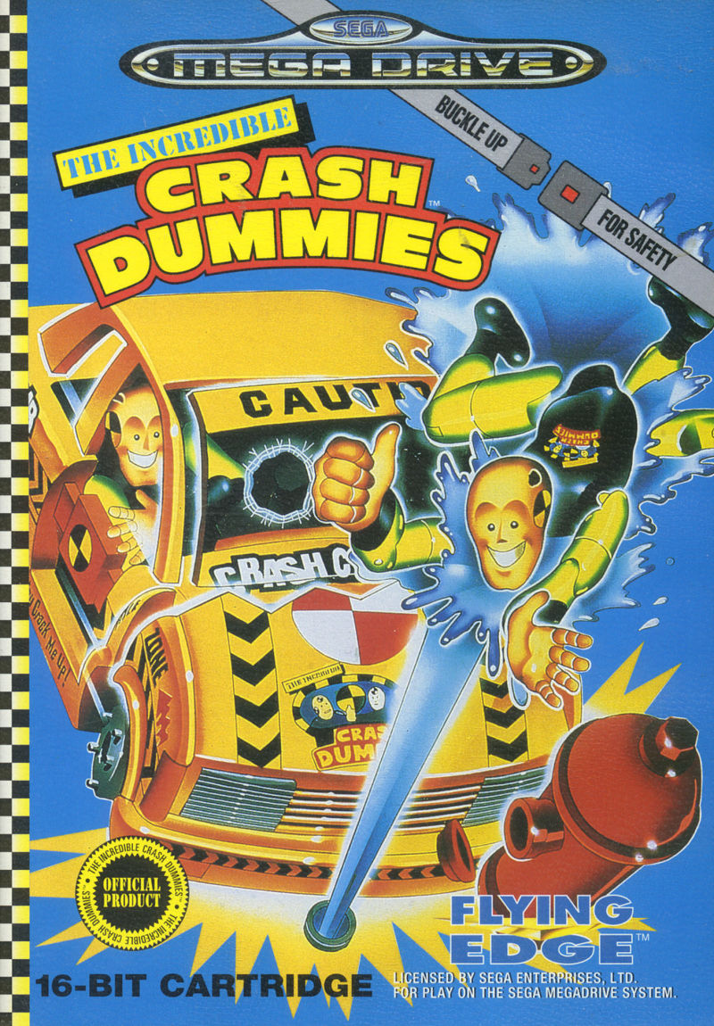 The Incredible Crash Dummies Genesis Front Cover