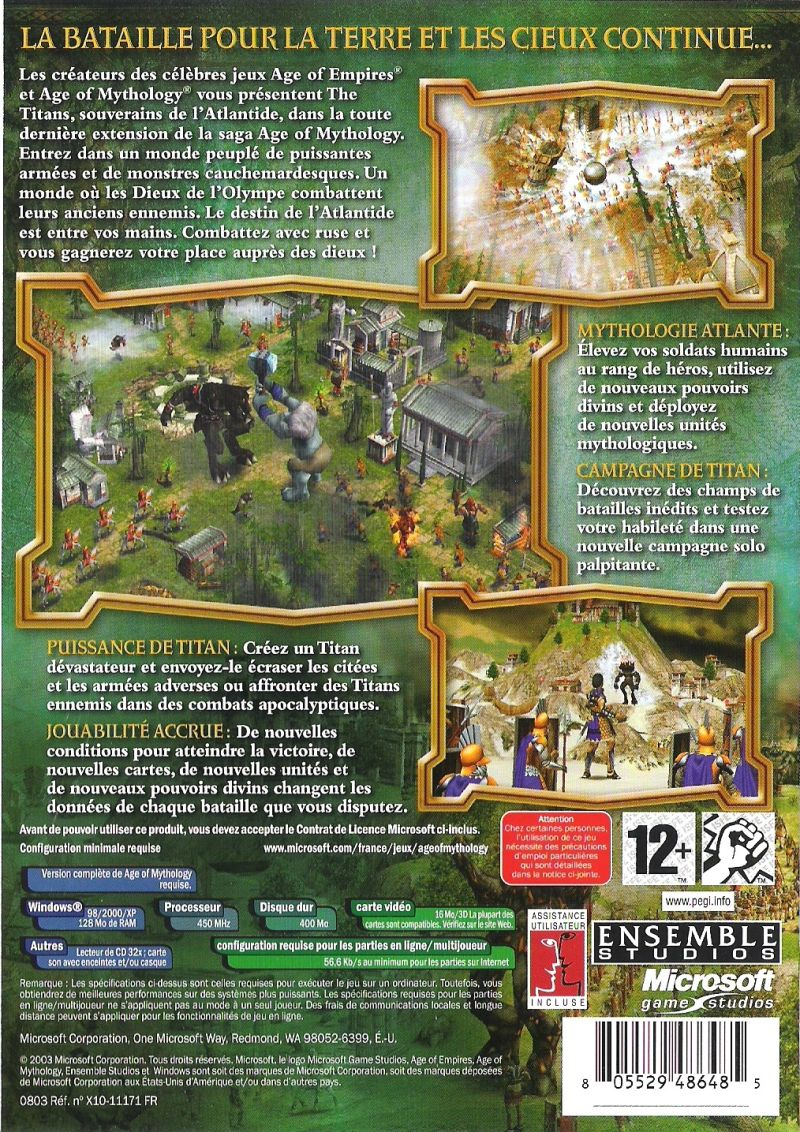 Age of Mythology: The Titans Windows Back Cover
