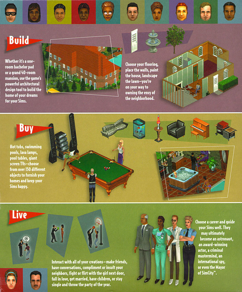 The Sims Windows Inside Cover Right Flap