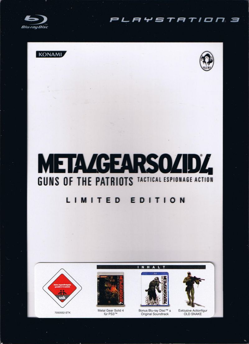 Metal Gear Solid 4: Guns of the Patriots (Limited Edition) PlayStation 3 Front Cover