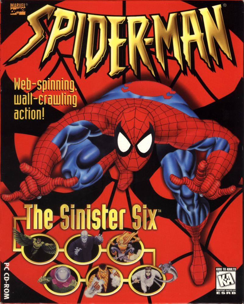 Marvel Comics Spider-Man: The Sinister Six DOS Front Cover