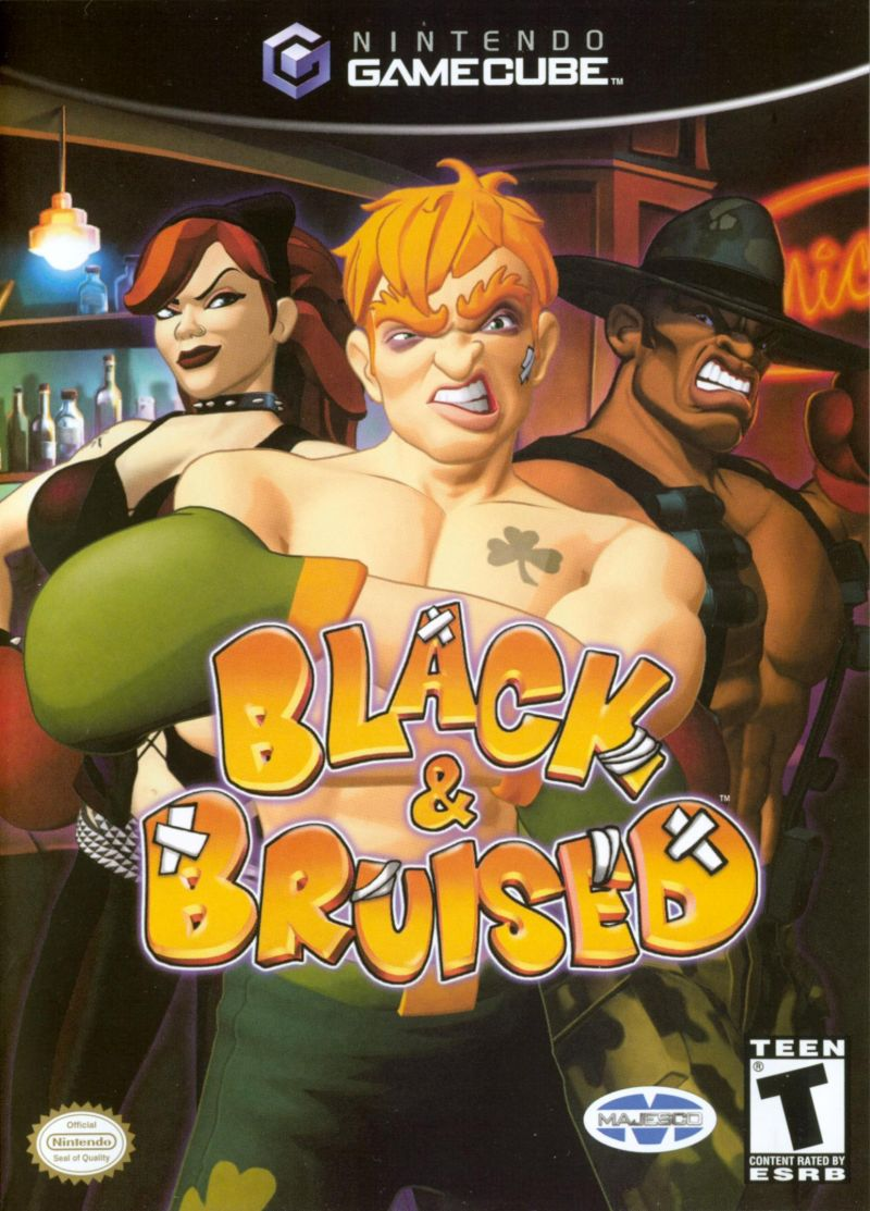 Black & Bruised GameCube Front Cover