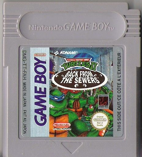 Teenage Mutant Ninja Turtles II:  Back from the Sewers Game Boy Media