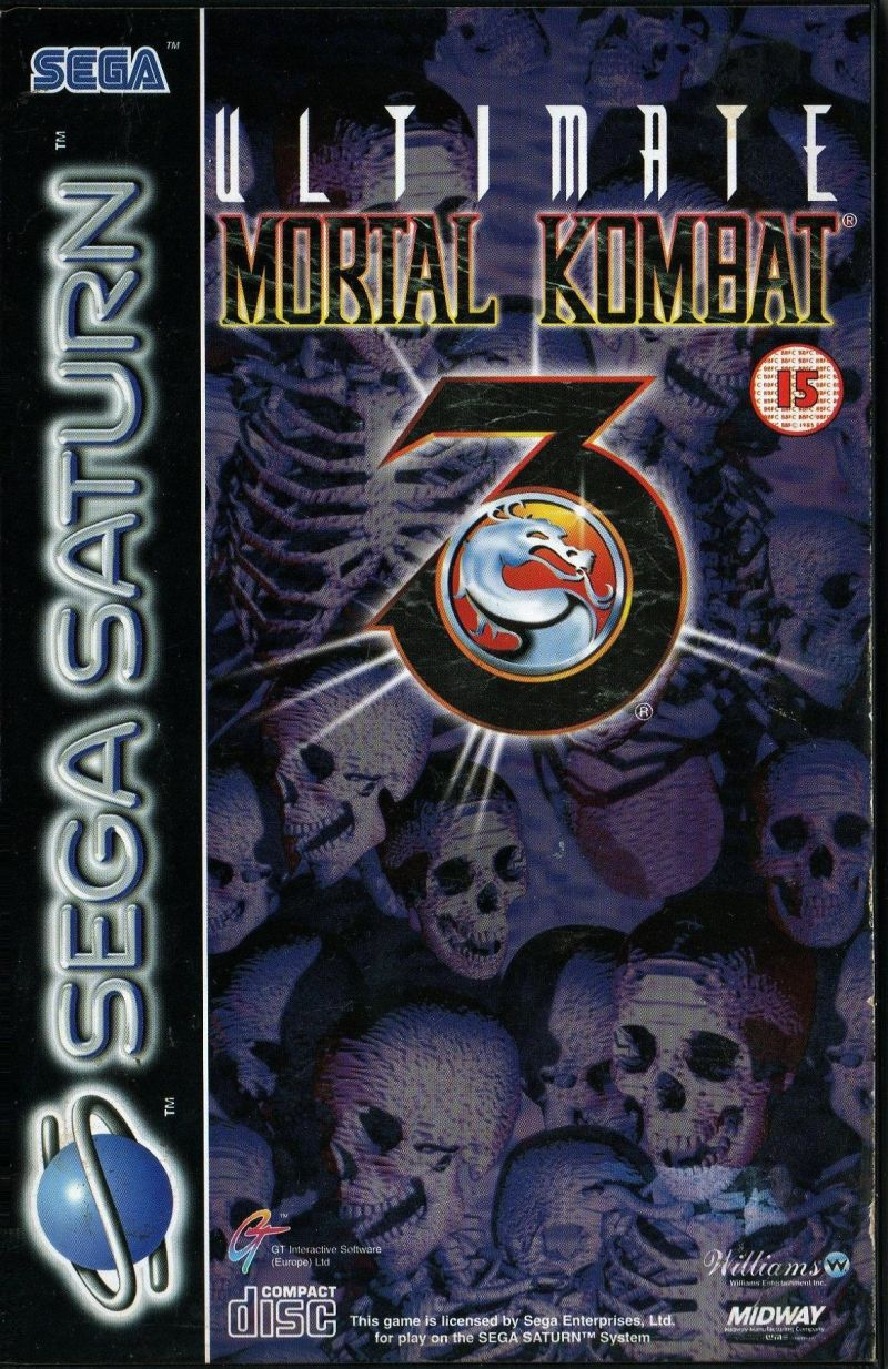 Ultimate Mortal Kombat 3 SEGA Saturn Front Cover