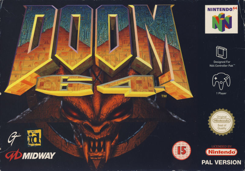 DOOM 64 Nintendo 64 Front Cover