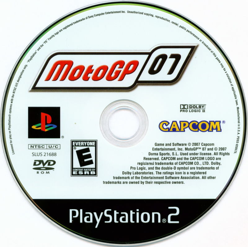 Motogp 07 2007 Playstation 2 Box Cover Art Mobygames