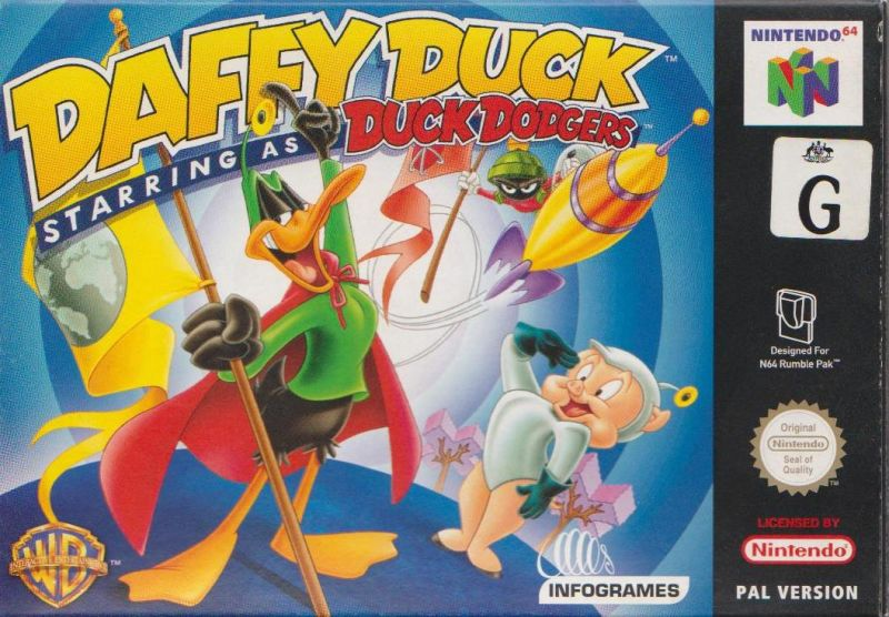 Looney Tunes: Duck Dodgers - Starring Daffy Duck Nintendo 64 Front Cover