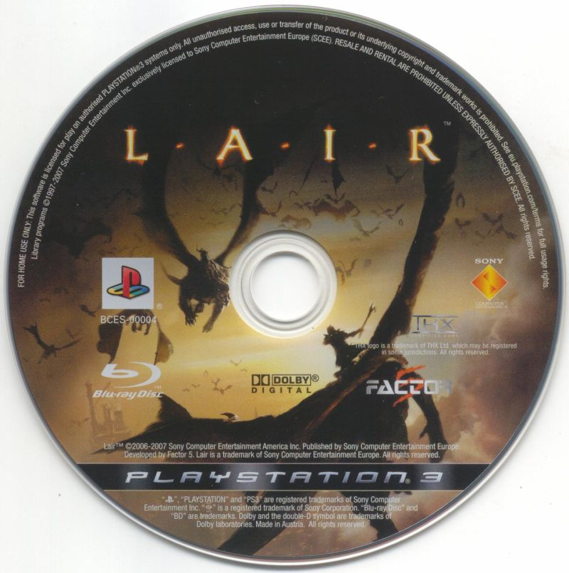 Lair PlayStation 3 Media