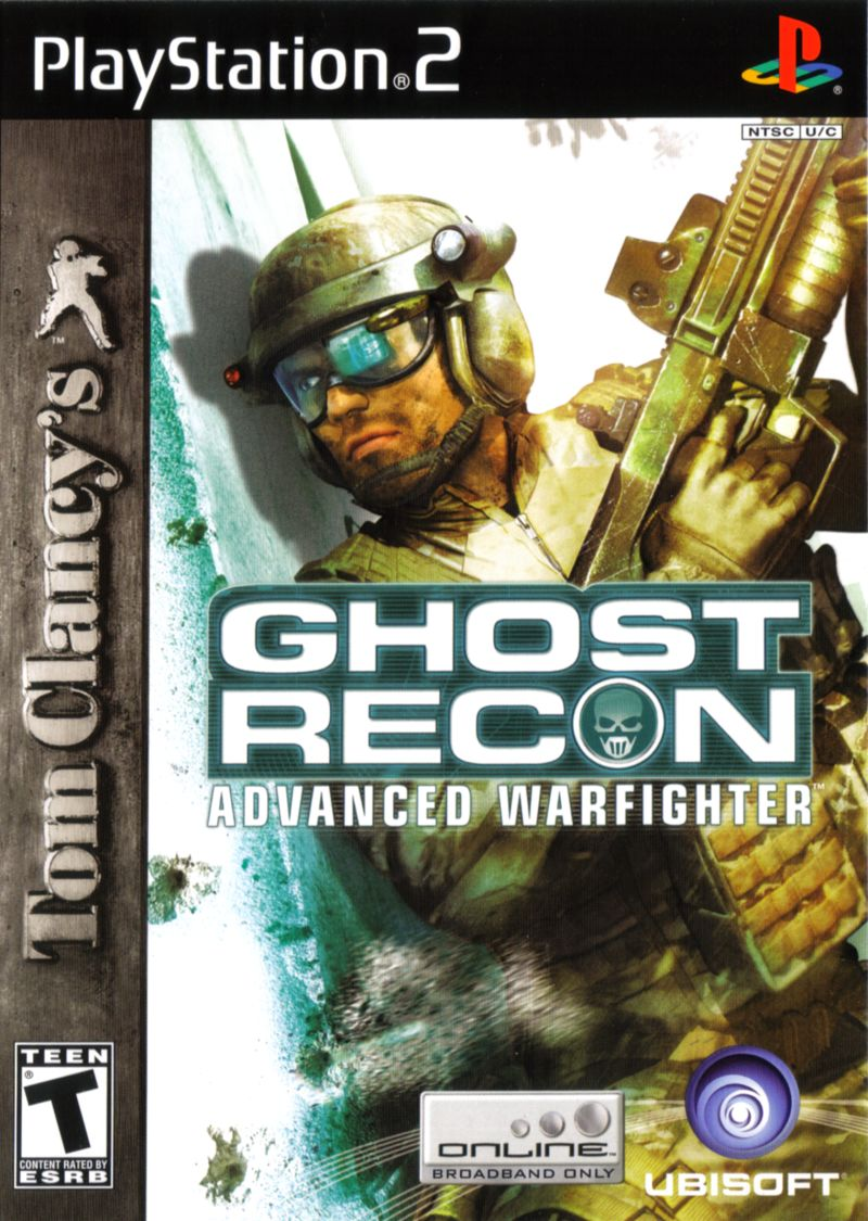 Tom Clancy's Ghost Recon: Advanced Warfighter PlayStation 2 Front Cover