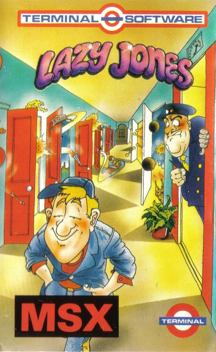 Lazy Jones MSX Front Cover