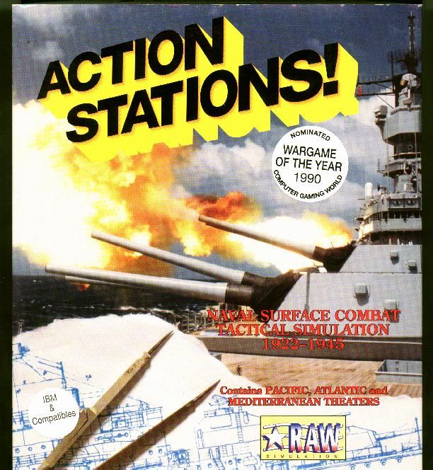 Action Stations! DOS Front Cover