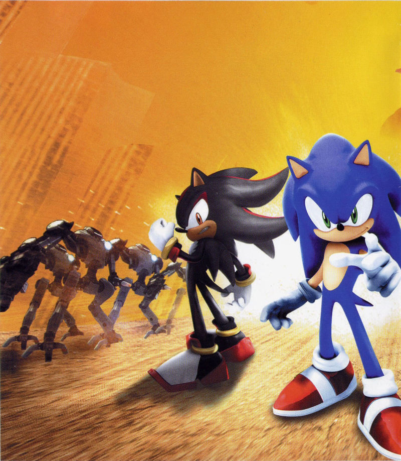 Sonic the Hedgehog PlayStation 3 Inside Cover Left Side