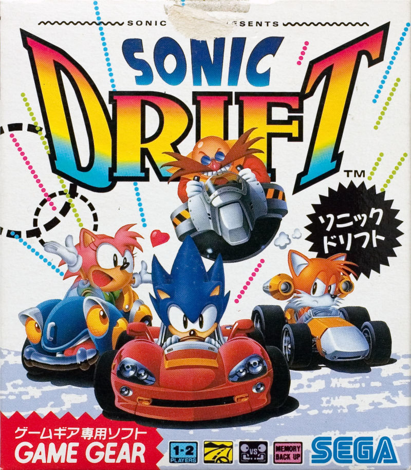 Sonic Drift Game Gear Front Cover