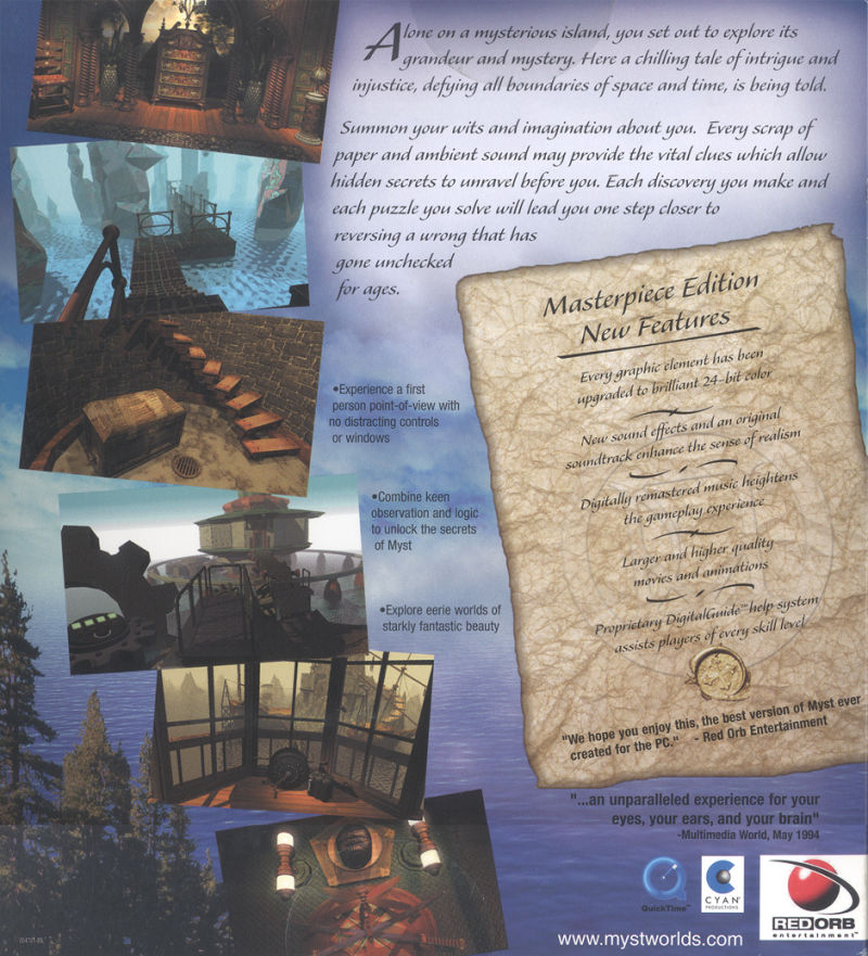Myst: Masterpiece Edition Windows Back Cover