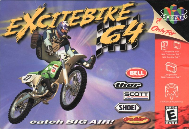 Excitebike 64 Nintendo 64 Front Cover