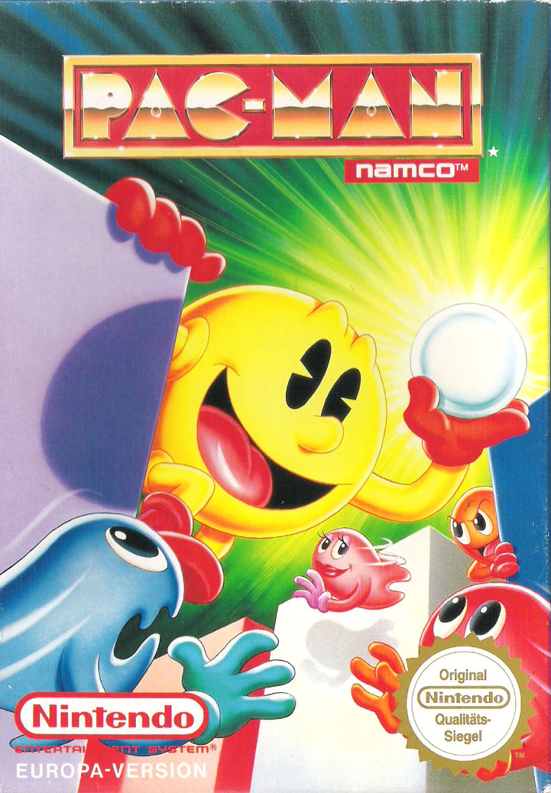 Pac-Man NES Front Cover