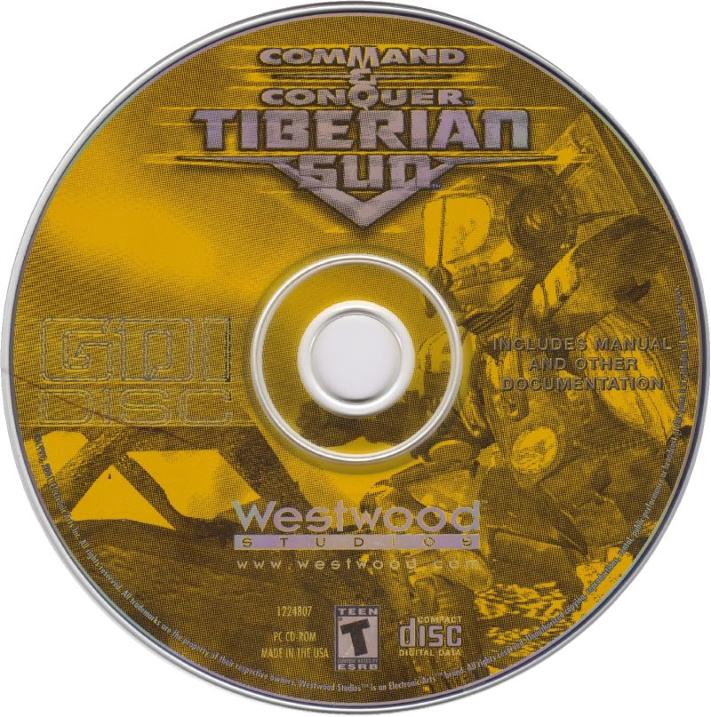 Command & Conquer: Tiberian Sun Windows Media GDI disc