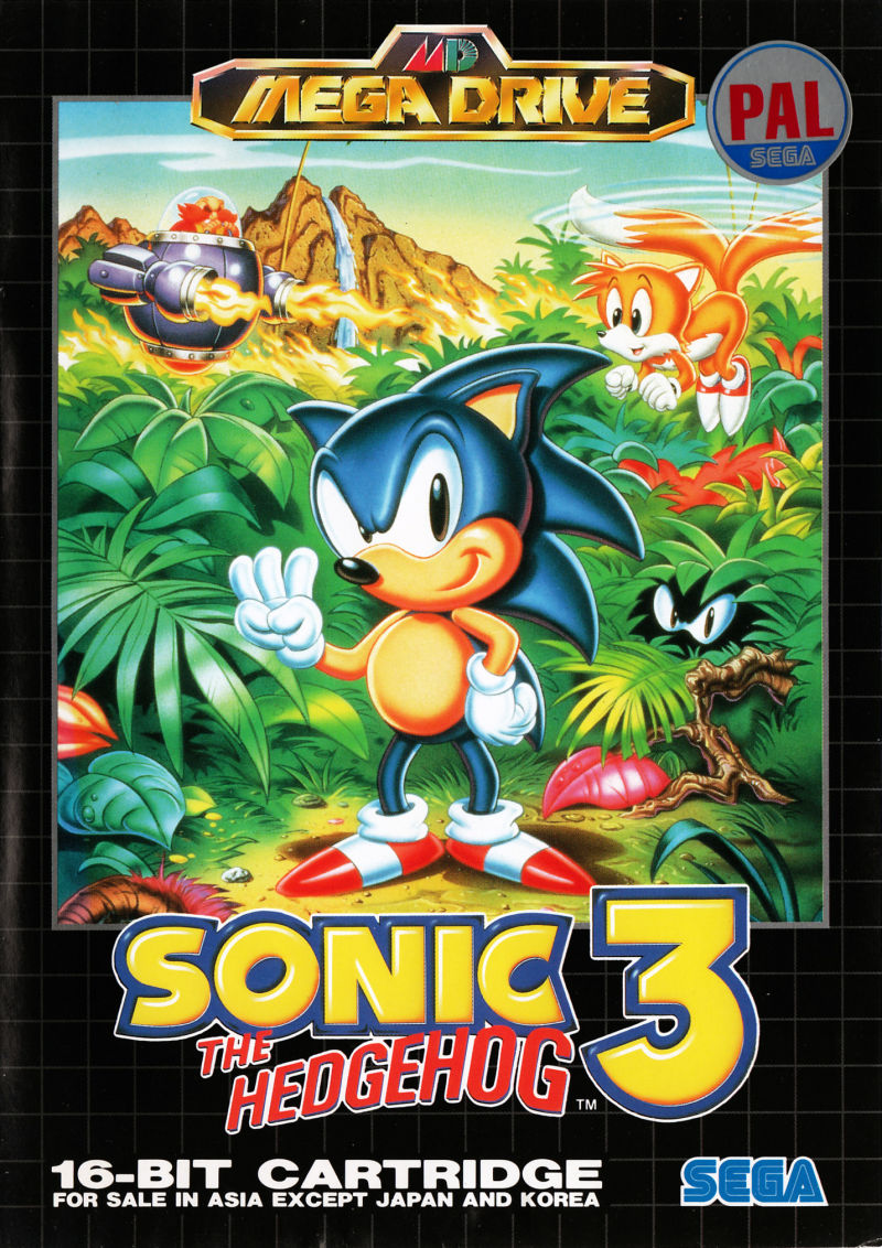Sonic The Hedgehog 3 1994 Genesis Box Cover Art Mobygames