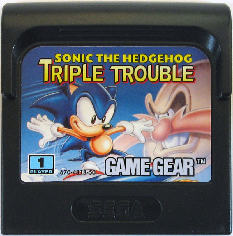 Sonic The Hedgehog Triple Trouble 1994 Box Cover Art Mobygames