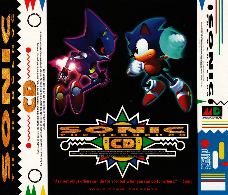 Sonic CD SEGA CD Inside Cover Right Side - Under Disc