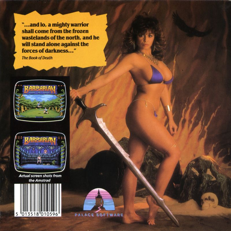 Death Sword Amstrad CPC Back Cover