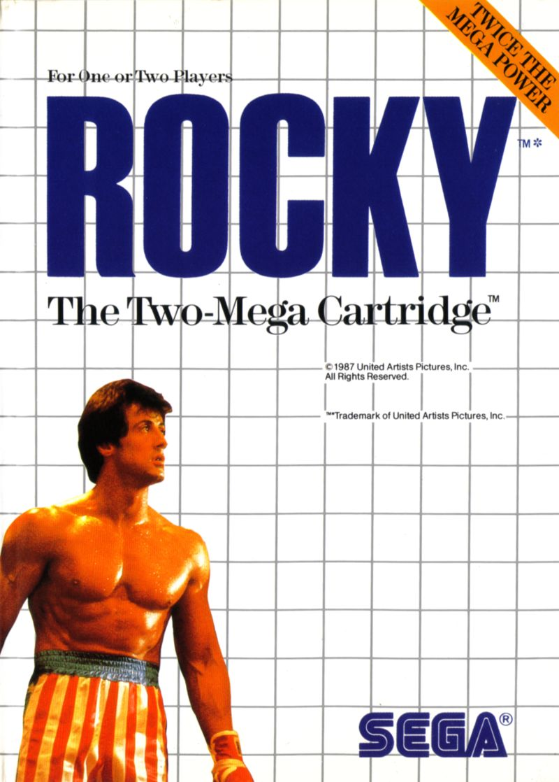 Rocky SEGA Master System Front Cover