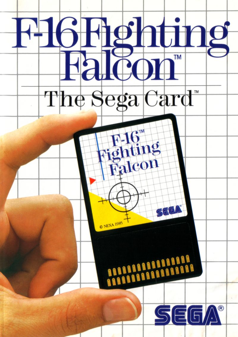 F16 Fighting Falcon SEGA Master System Front Cover