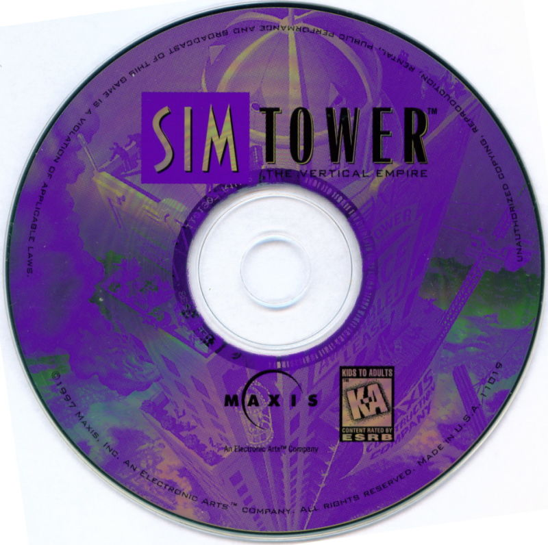 SimTower: The Vertical Empire Windows 3.x Media