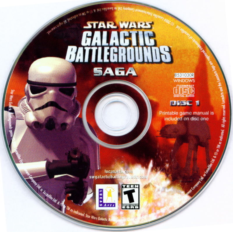 Star Wars: Galactic Battlegrounds - Saga Windows Media Disc 1