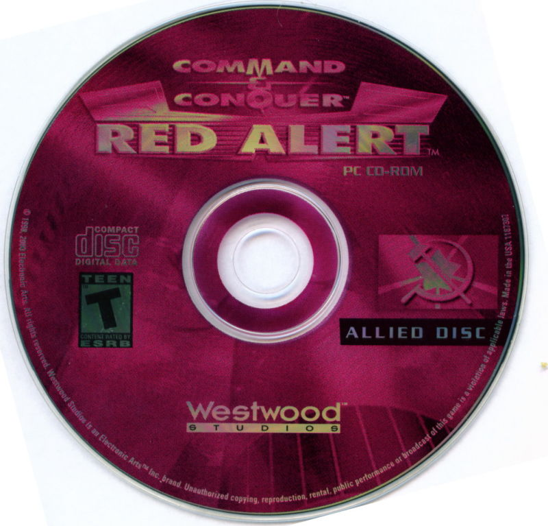 Electronic Arts Top Ten - Blue Windows Media Command & Conquer: Red Alert (Allied Disc)