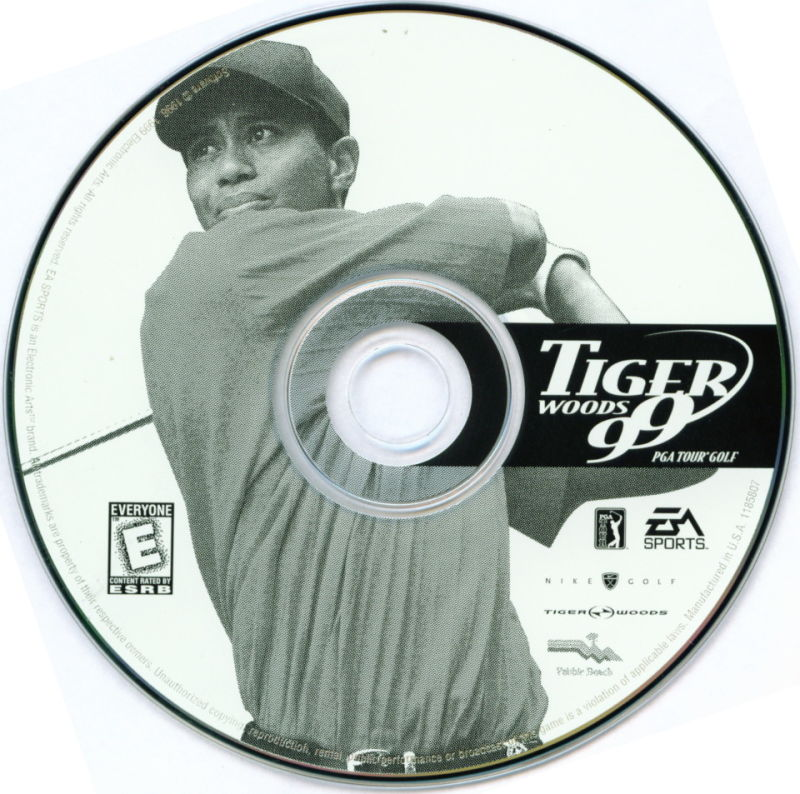 Electronic Arts Top Ten - Blue Windows Media Tiger Woods 99