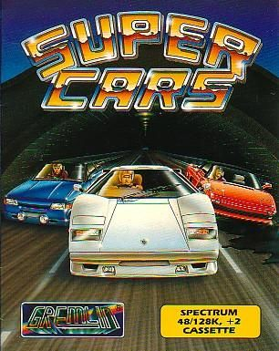 Super Cars ZX Spectrum Front Cover