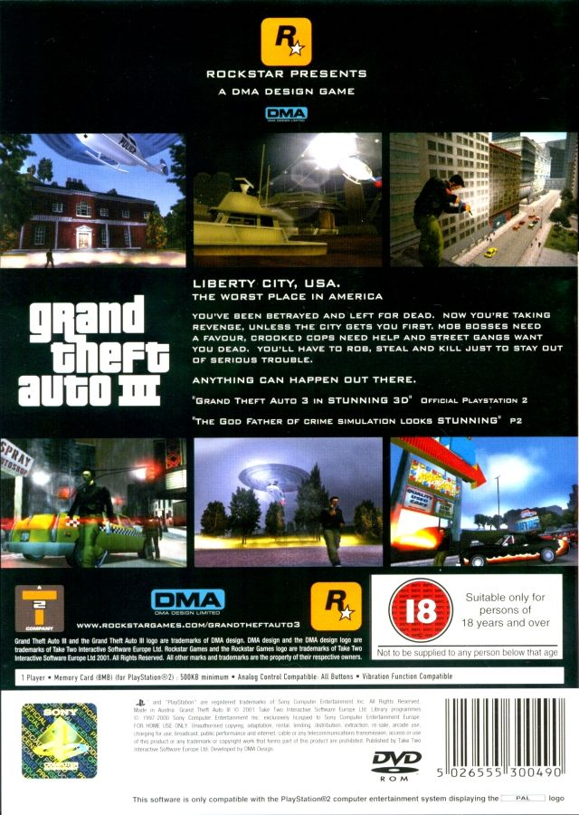 Grand theft auto iii 2001 playstation 2 box cover art for 2 box auto profondo