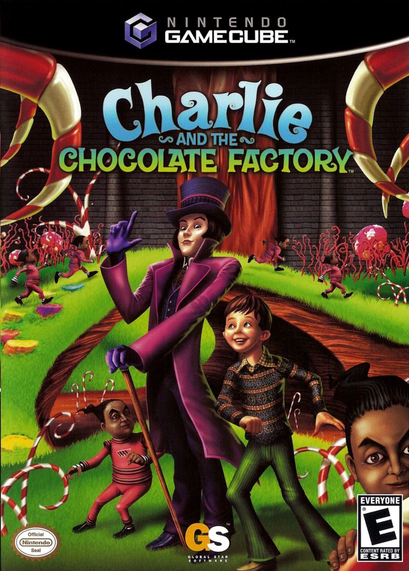 Charlie and the Chocolate Factory GameCube Front Cover