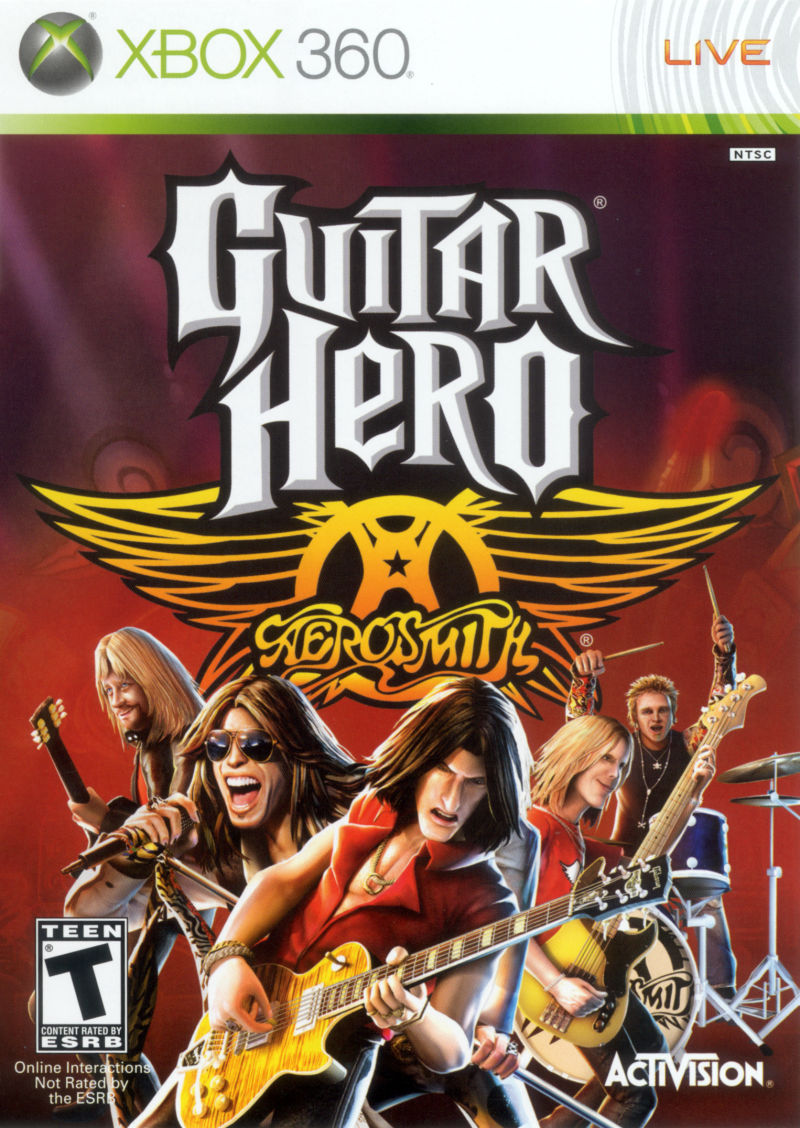 Guitar Hero: Aerosmith Xbox 360 Front Cover