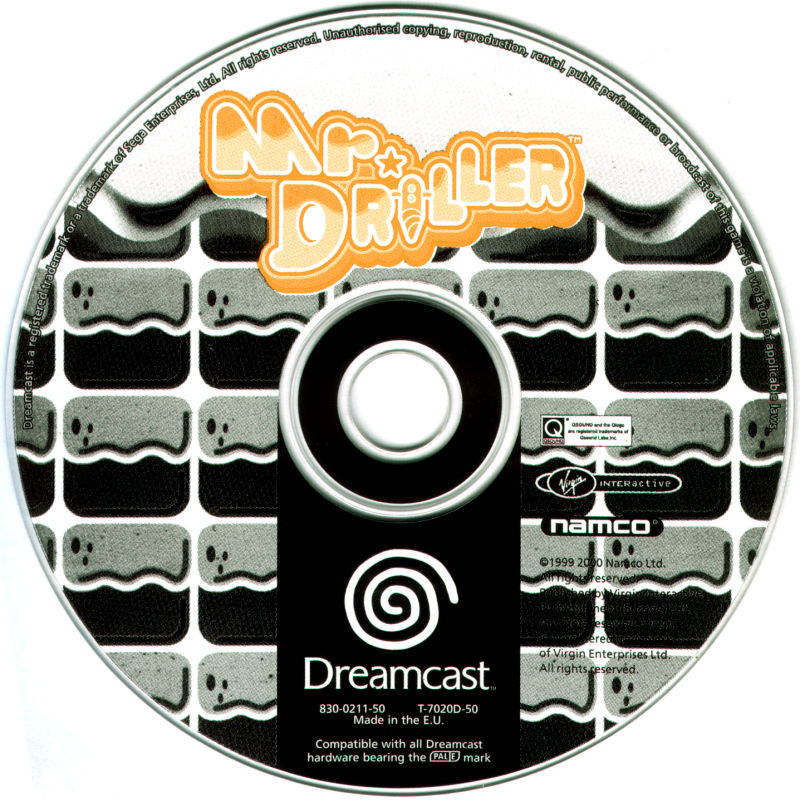 Mr. Driller Dreamcast Media