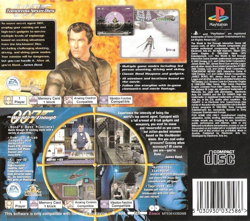 The World Is Not Enough Game ps1-cover game disc