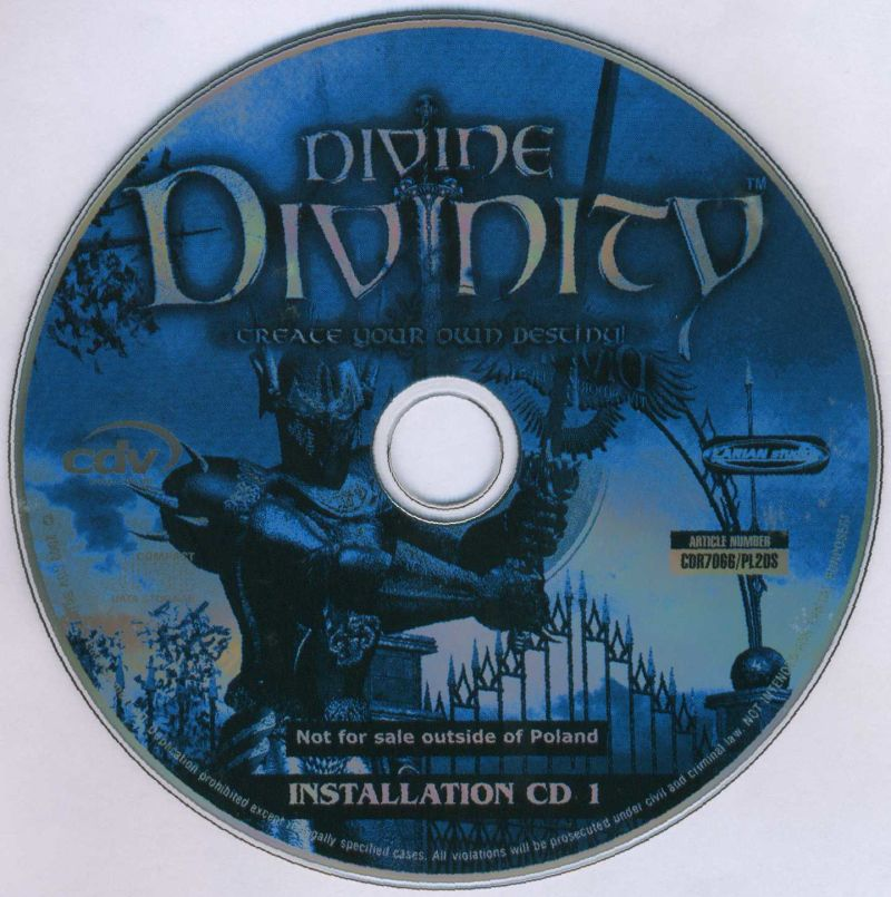 Divine Divinity Windows Media Installation disc 1