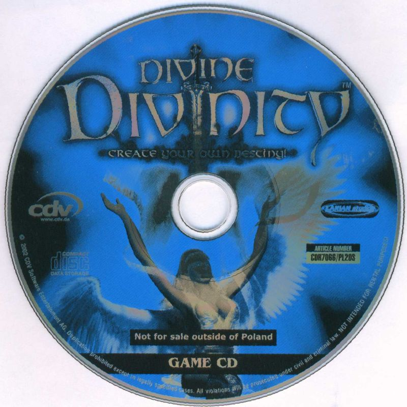 Divine Divinity Windows Media Game disc