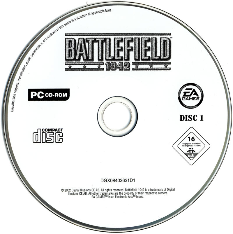 Battlefield 1942 Windows Media Disc 1/2