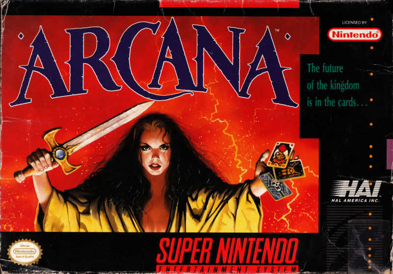 Arcana SNES Front Cover