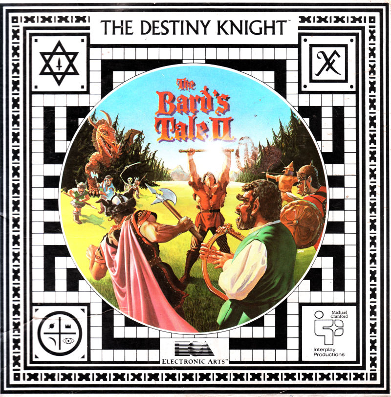 The Bard's Tale II: The Destiny Knight Apple II Front Cover