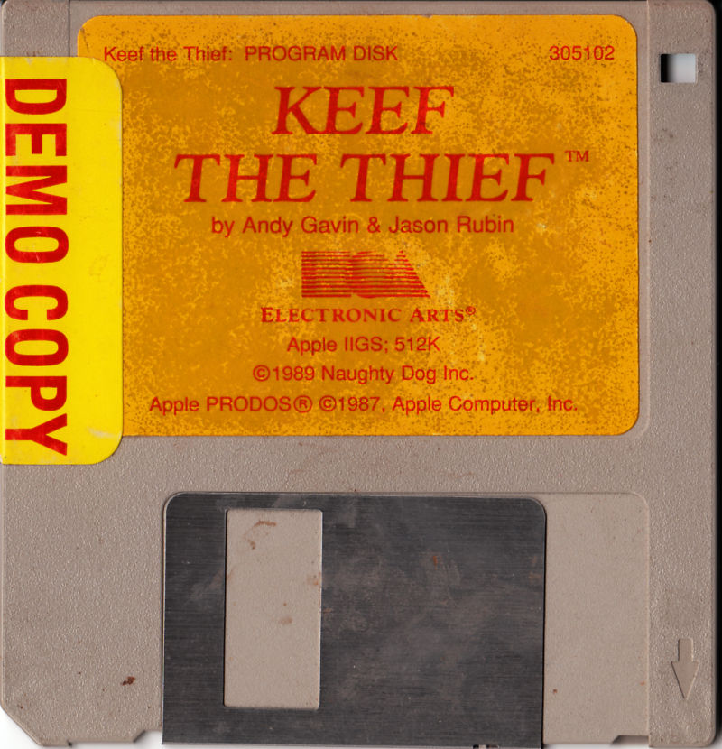 Keef the Thief: A Boy and His Lockpick Apple IIgs Media Demo copy of the game